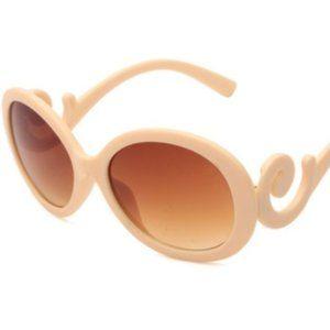 NWOT Cream retro oversized swirl sunglasses